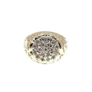 10k YG men's diamond fashion ring