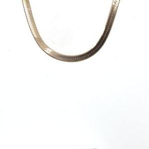 14k yellow gold silky herringbone chain
