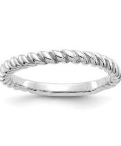 14kt White Gold Twist Band