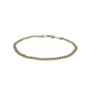 14kt YG dbl strand bracelet