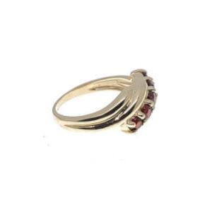 14kyg garnet fashion ring