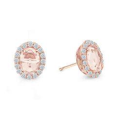 Lafonn 2.9ctw Simulated Diamond & Morganite Earrings RG