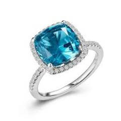 Lafonn cushion-cut halo engagement ring