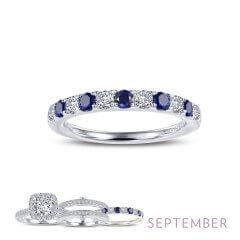 Lafonn Simulated Diamond & Sapphire Ring PLT
