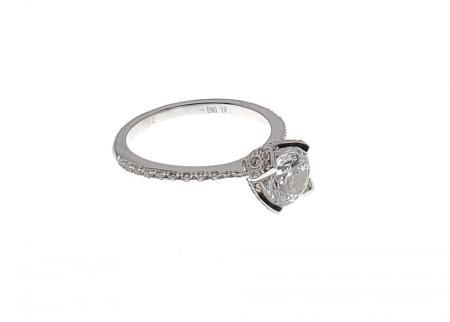 Tulip Head Engagement Ring