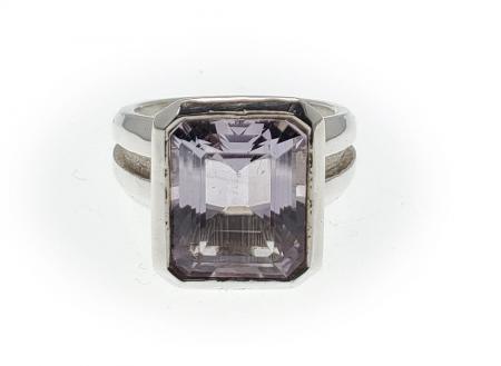 Sterling Silver Ring Lavender Quartz