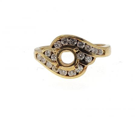 18 K Yellow Gold Diamond Ring Mounting