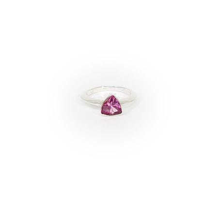 Sterling Silver Pink Stone Ring