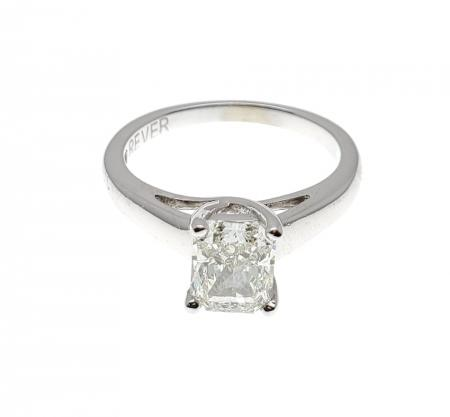 1.21 ct Radiant Cut 14k White Gold Solitaire Engagement Ring