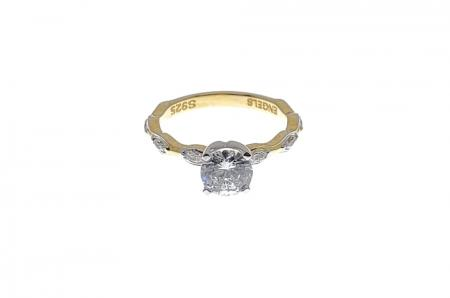 Marquise Bubble Engagement Ring