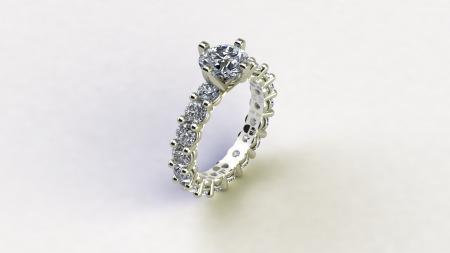 Eternity Diamond Engagement Ring