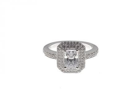 Radiant Double Halo Diamond Engagement Ring