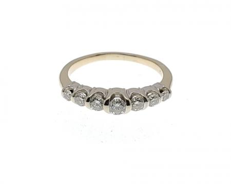 14K Two Tone Diamond Ring