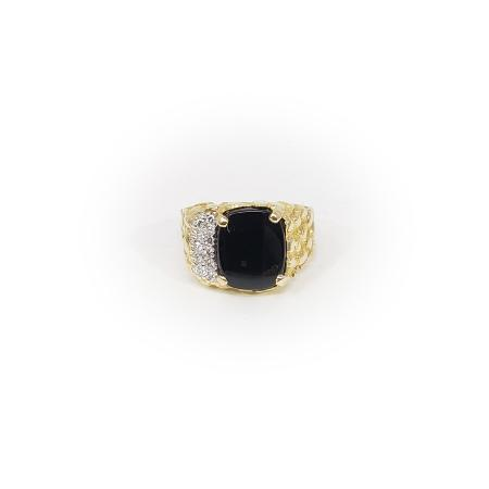 10K Yellow Gold Mens Ring