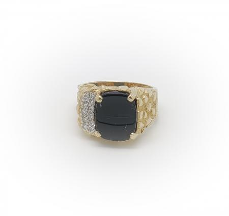 10K Yellow Gold Mens Ring