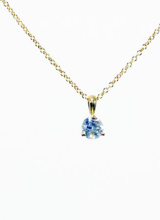 14k Yellow Gold Diamond Pendant .35ctw
