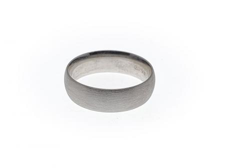 Comfort Fit Wedding Band 14k White Gold