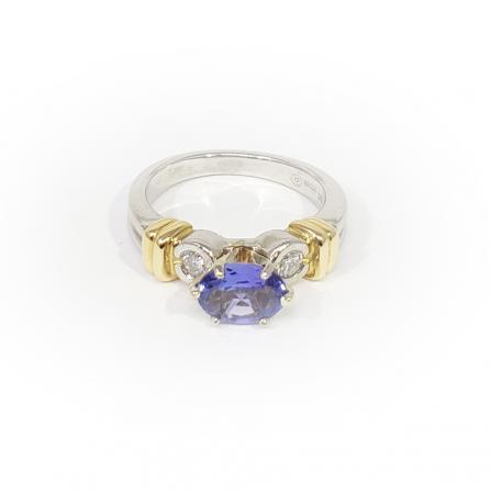 Platinum 18K Tanzanite Ring