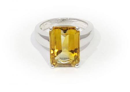 Sterling EC yellow stone ring