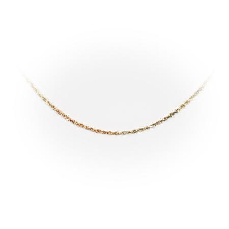 14K Tri-Gold Rope Chain