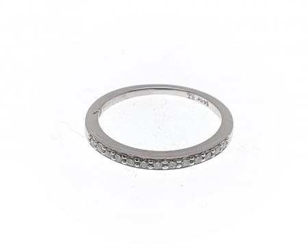 14K White Gold Diamond Anniversary Ring