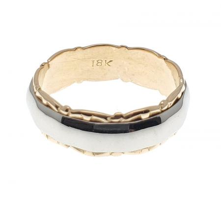 18K Two-Tone Wedding Band