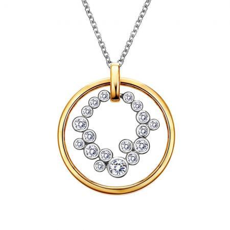 Lafonn .66ctw Simulated Diamond Circle Necklace Two Tone