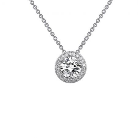 Lafonn 1.25ctw Simulated Diamond Halo Necklace PLT