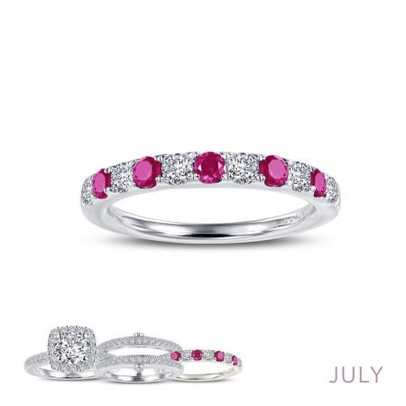 Lafonn Simulated Diamond & Ruby Ring PLT