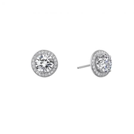 Lafonn 2.50ctw Simulated Diamond Radiant Round Halo Earrings