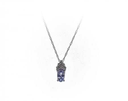 10K White Gold Tanzanite Pendant