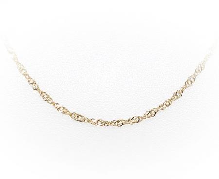 "14K Yellow Gold Serpentine 18"" Chain"