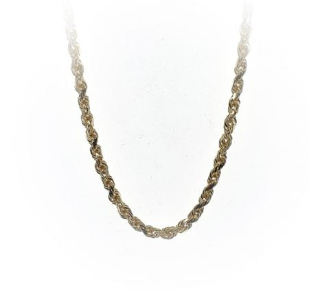 14K Yellow Gold 18 Inch Rope Chain
