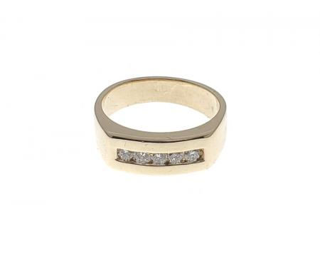 14K Yellow Gold .25CTW Diamond Ring