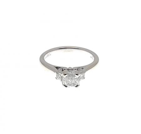 14KWG Diamond Engagement Ring