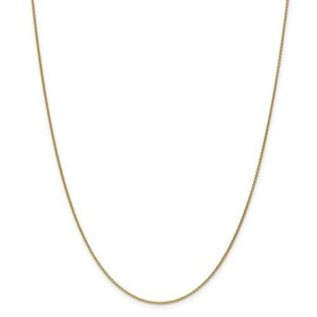 14K Yellow Gold Cable Chain 18 Inch