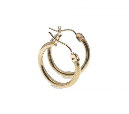 14K Yellow Gold Small Hoop Earrings