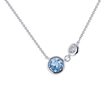 Lafonn bezel set solitaire necklace