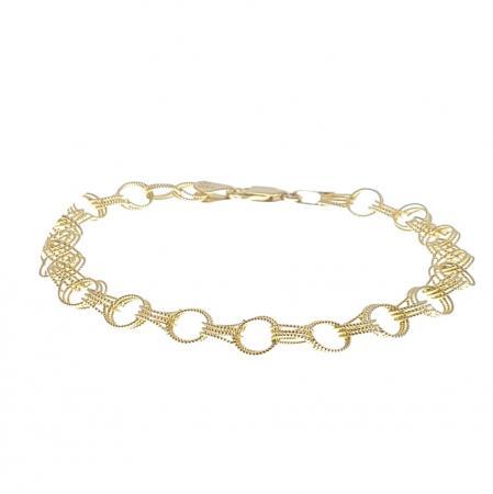 """14k yellow gold fancy 7"""" bracelet"""