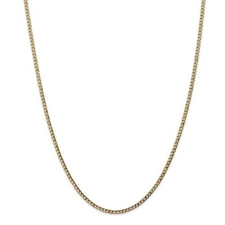 """14k Yellow Gold 2.5mm 24"""" Curb Link Chain"""