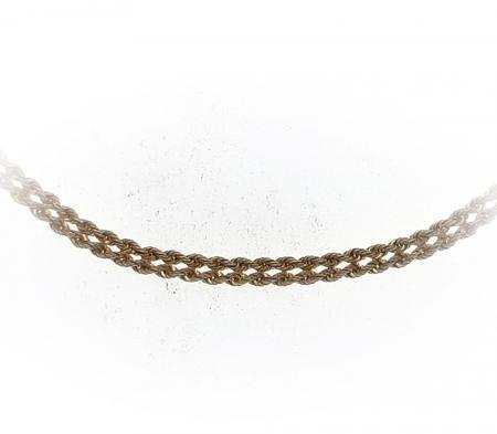 "14k yellow gold 18"" double diamond cut rope chain"