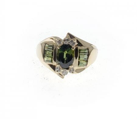 14KYG Green Tourmaline Ring