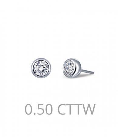 Lafonn .50 Simulated Diamond Stud Earrings