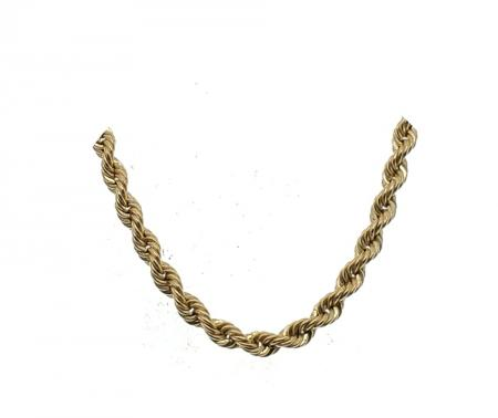 """14k yellow gold 18"""" thick rope chain"""