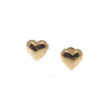 14kyg Heart Stud Earrings