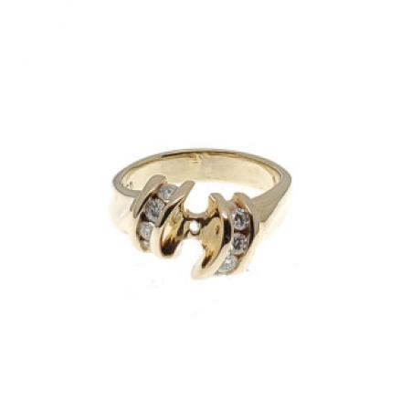 14K Diamond Ring Semi Mount