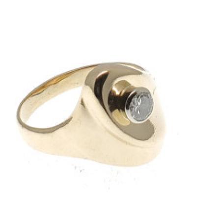 14K Yellow .30ct Diamond Ring