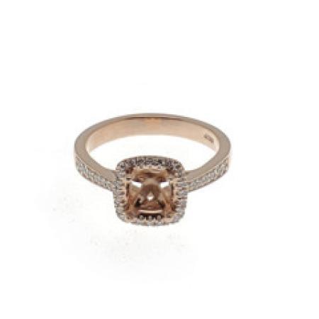 14kt RG .50ctw semi-mount engagement ring
