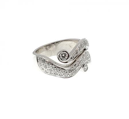 14k WG fancy diamond ring .55ctw