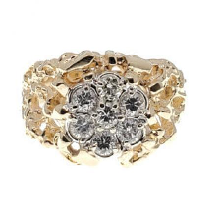 14K yellow gold nugget ring2 (2)